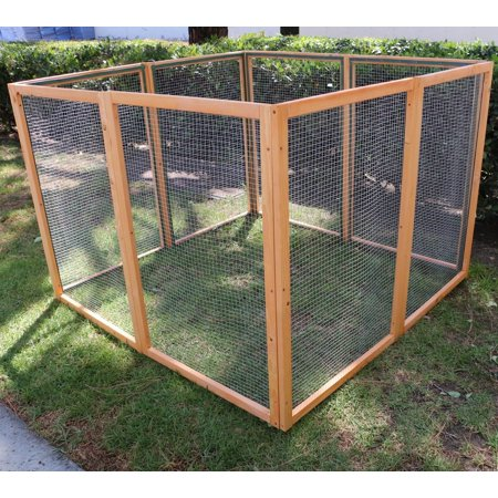 - Magshion Wooden Chicken Coop Rabbit Hutch Pet Cage Wood Small Animal Poultry Cage Run