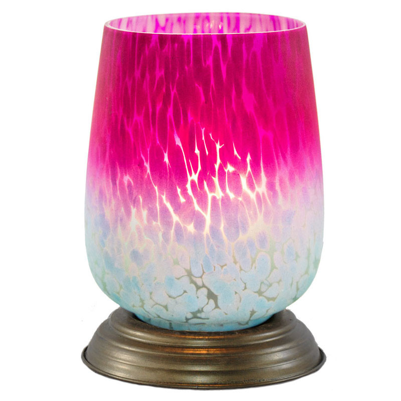 Glass Memory Lamp Medium 0 Pink Bordeaux Glass Engraving Sold Separately by OneWorld Memorials