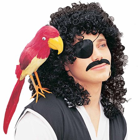Black Curly Character Wig Adult Halloween Costume Accessory for $<!---->
