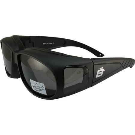 Birdz Swallow Foam Padded Fits Over Most Prescription Eyewear Glasses Smoke Lenses