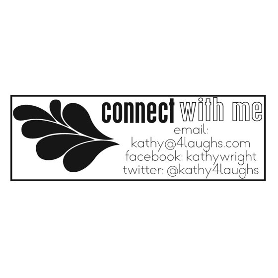 Personalized Rectangular Self-Inking Rubber Stamp - Connect with me