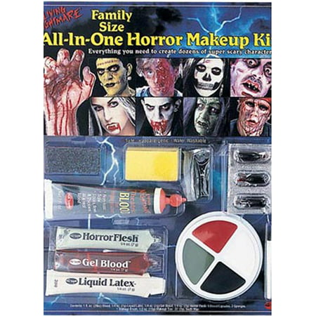 Scary Halloween Half Face Paint (All-in-One Horror Kit Halloween)