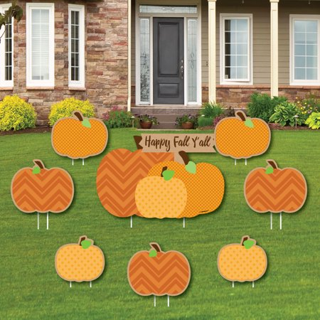 Pumpkin Patch - Yard Sign & Outdoor Lawn Decorations - Fall & Thanksgiving Party Yard Signs - Set of 8 ()