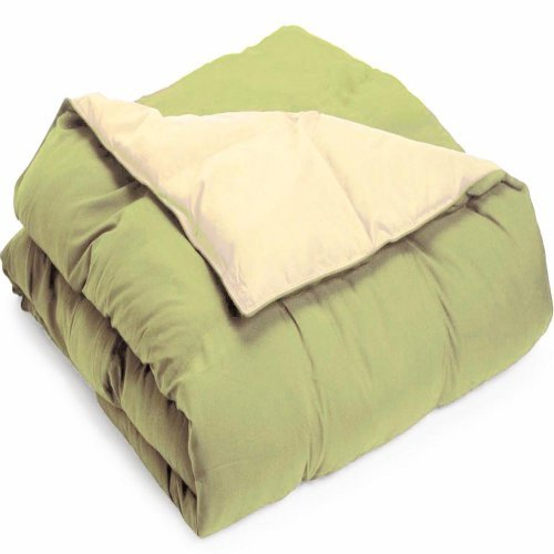 Grand Down Microfiber Reversible Comforter - Ivory / Sage