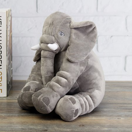 Grey Mini Elephant Pillow Soft Plush Lovely Cute Long Nose
