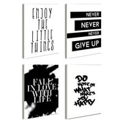 The Stupell Home Decor Collection 4 Piece Inspirational Quotations Rectangle Wall Plaque