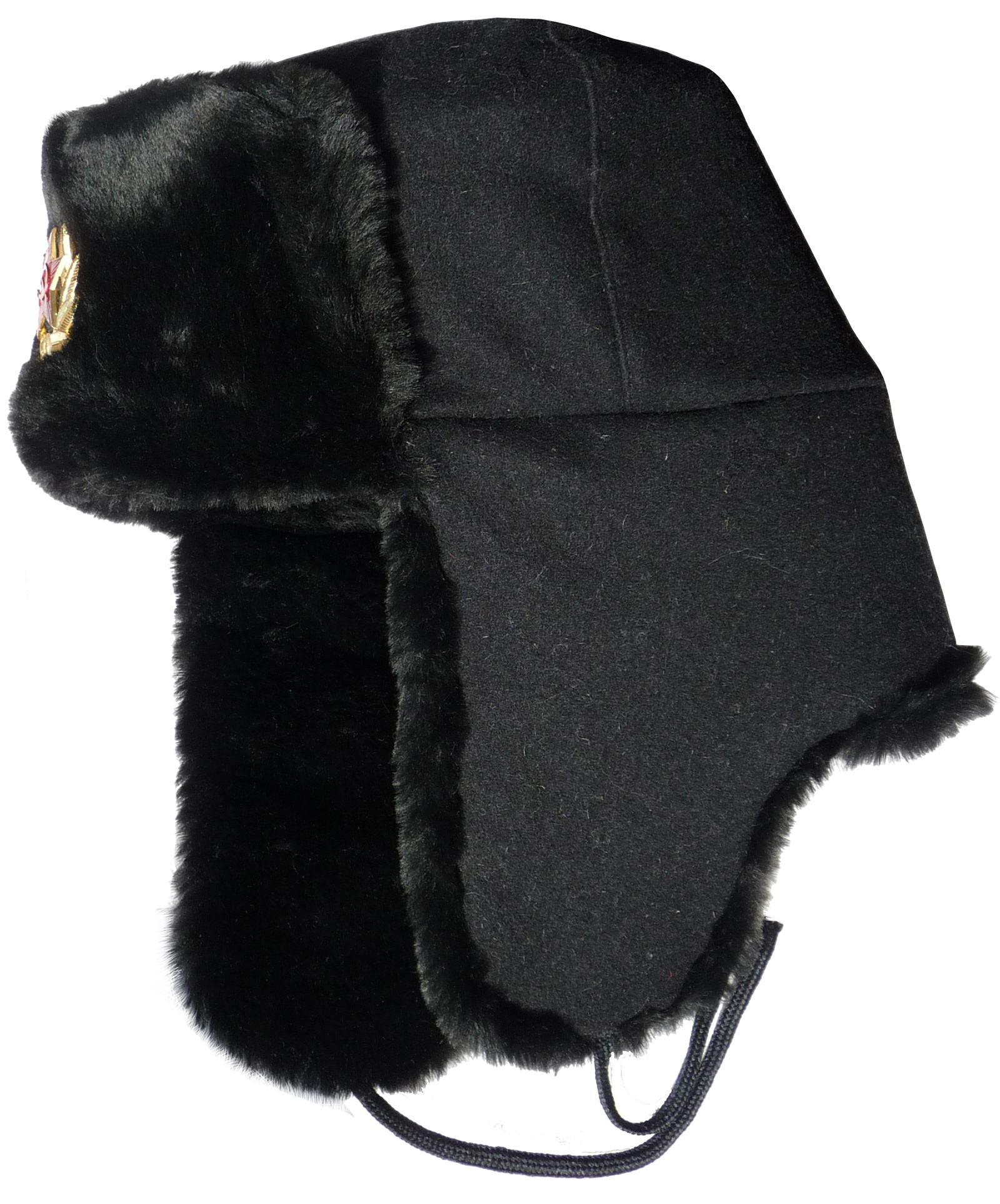 Ushanka winter hat Russian Navy Seaman Black - Walmart.com f95f010e97b0