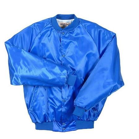 Lined Satin Jacket (Westark 2460 Adult Satin Solid Quilt Lined Jacket, Royal -)
