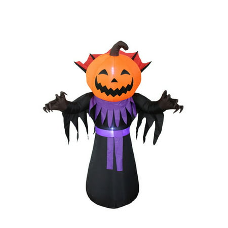 BZB Goods Halloween Inflatable Pumpkin Head Monster Yard Decoration - Easy Halloween Yard Decorations+homemade