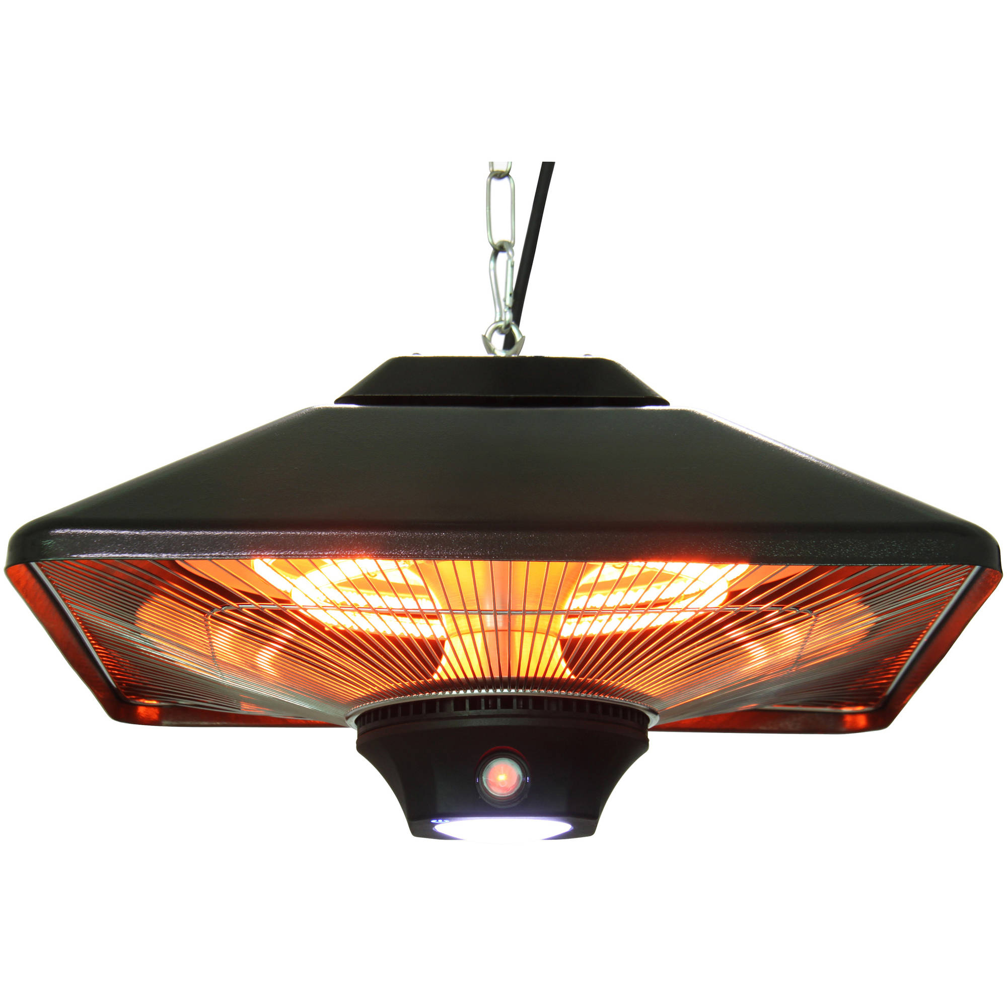EnerG+ HEA-21288LED-B Hanging Infrared Electric Heater, 1500W, Black