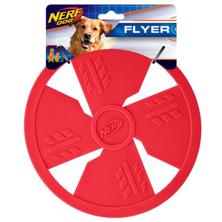 Nerf Dig 10in TPR Flyer, Red Dog Toy