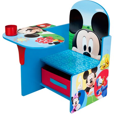 Mickey Mouse Toddler Desk Chair with Storage - Mickey Mouse Cut Out