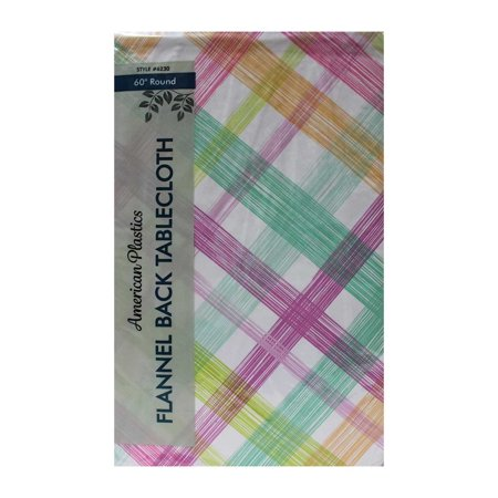 Tablecloth 60 Quot Multi Colored Checkered Pastel Colors Round