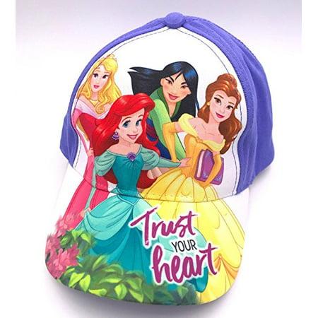 f58f03a8dc1 Baseball Cap - Disney - Princess - Group Kids Girls Hat - Walmart.com