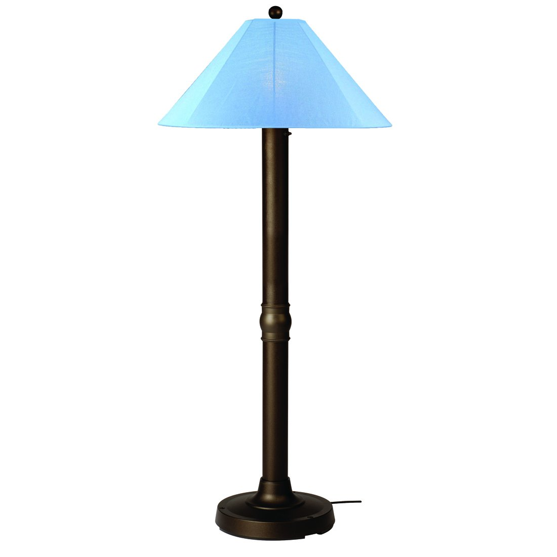 Patio Living Concepts Catalina 62 Inch Floor Lamp w  3 Inch Bronze Body & Sky Blue Sunbrella Shade Fabric by Patio Living Concepts