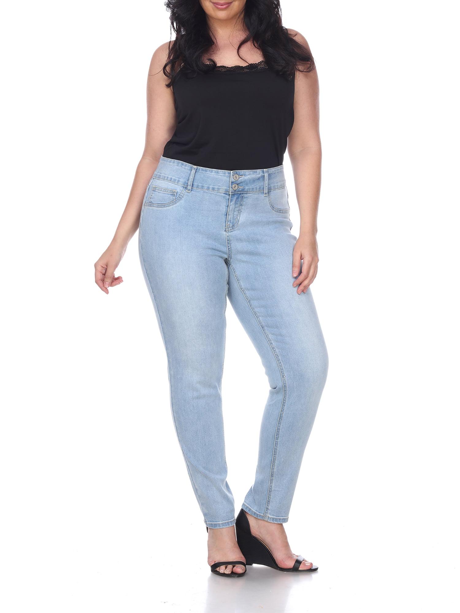 Women's Plus Size Super Stretch Light Blue Denim Jeans