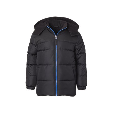 iXtreme Puffer Jacket with Contrast zipper - Free Gift with Purchase (Little Boys & Big Boys) (Leather Jacket Boys 8 20)