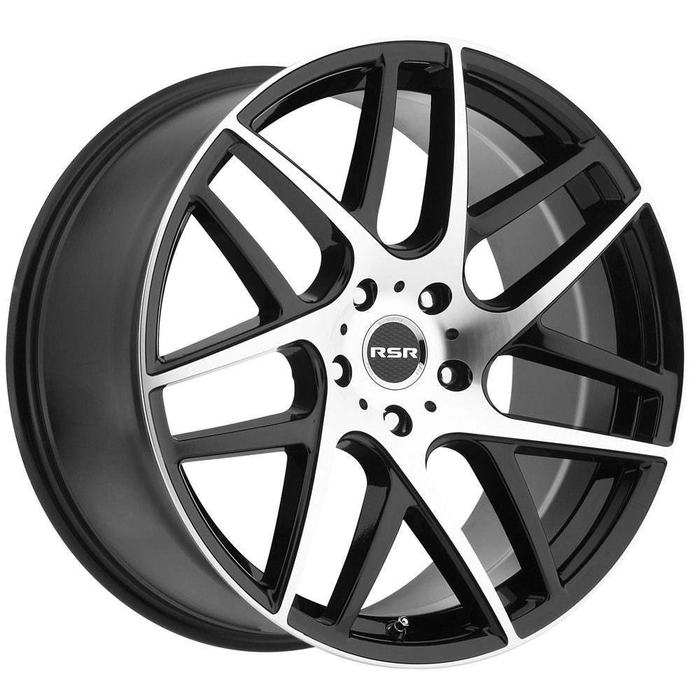 "19"" Inch RSR R702 19x9.5 5x112 +40mm Black/Machined Wheel Rim"
