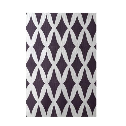 E By Design Geometric Purple Indoor/Outdoor Area Rug