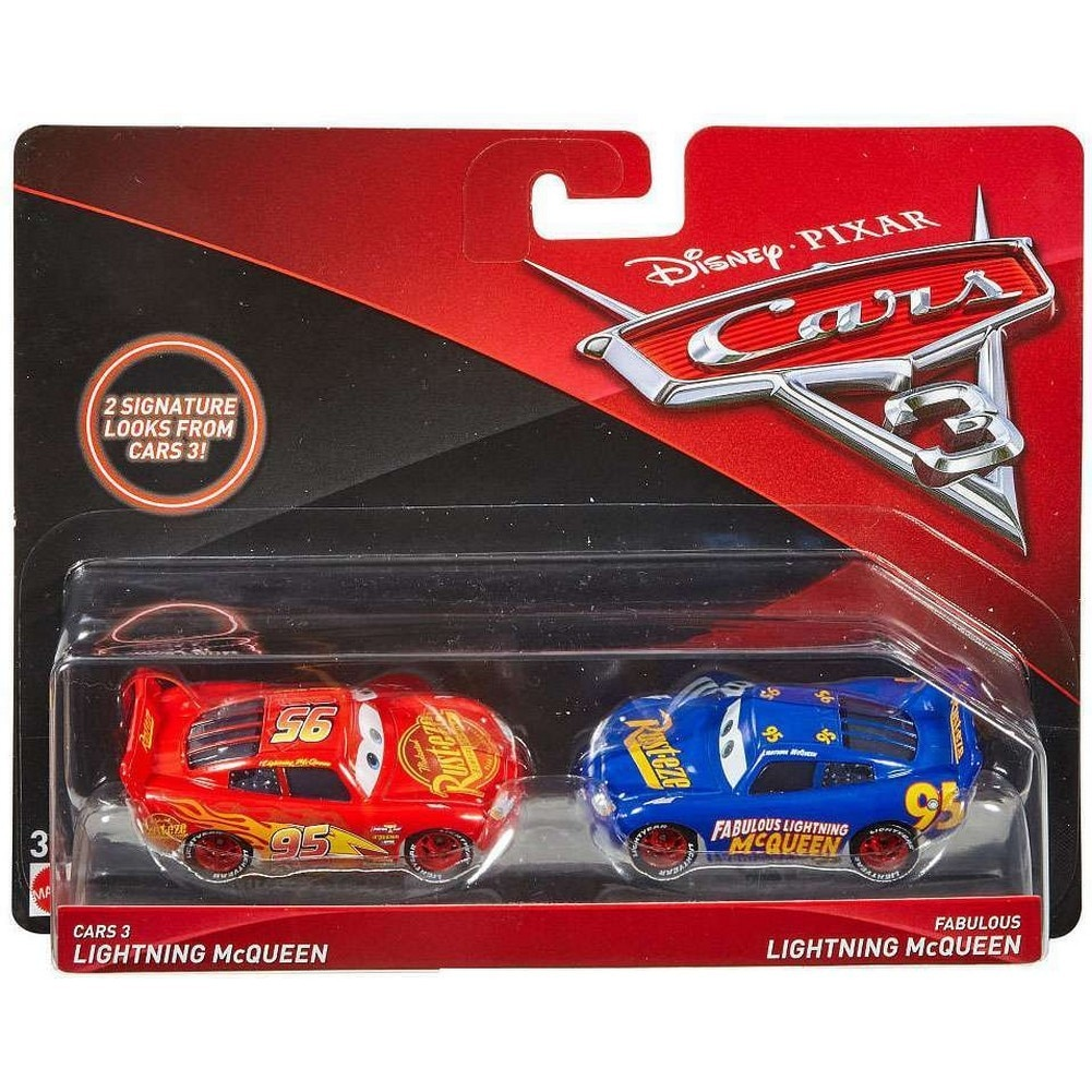 Cars 3 2 Pack Mcqueen And Fabulous Lightning Mcqueen