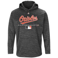 Baltimore Orioles Majestic Authentic Collection Team Drive Ultra-Streak Fleece Pullover Hoodie - Graphite