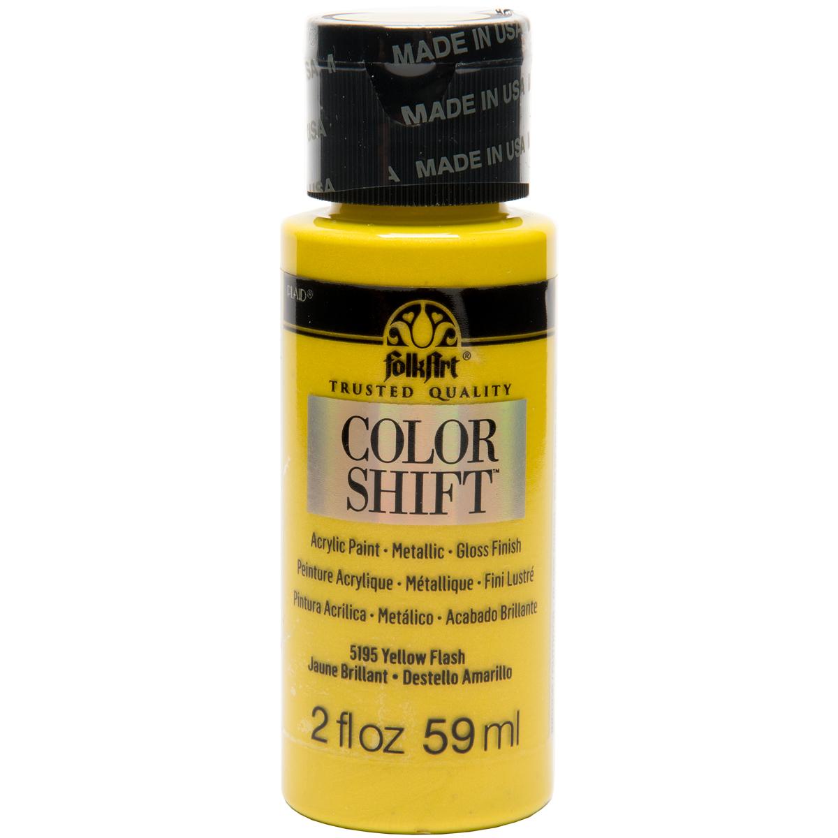 FolkArt Color Shift 2oz-Yellow Flash