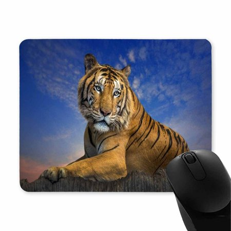 POP Mousepad, Rectangular Portrait of A Tiger in The Evening Mouse Pad 9x10 inch - image 2 of 2