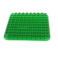 "Abilitations Gel-E Seat, 10"" x 10"", Green"