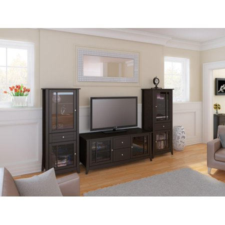 Elegance 58-inch TV Stand with Two Curio Cabinets