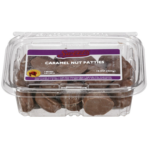 Sweet's Caramel Nut Patties Candy, 16 oz