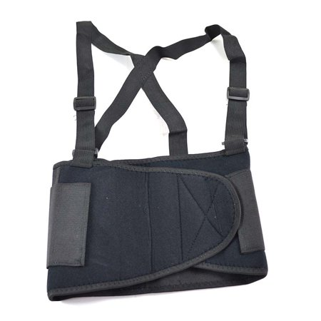 Interstate Safety 19480-XL Economy Double Pull Elastic Back Support Belt with Adjustable Shoulder Straps - Extra Large