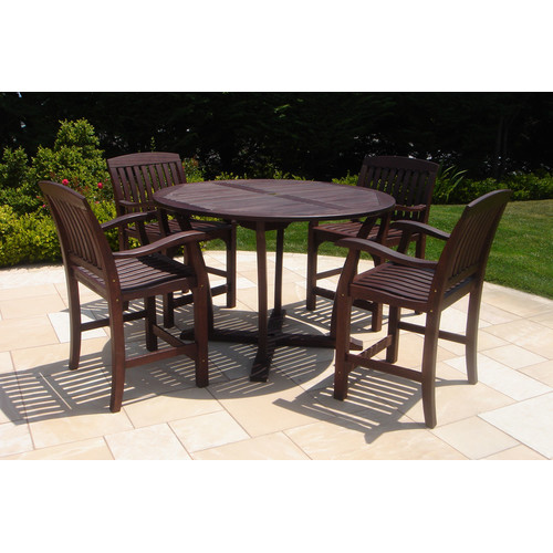 Royal Teak by Lanza Products 5 Piece Dining Set