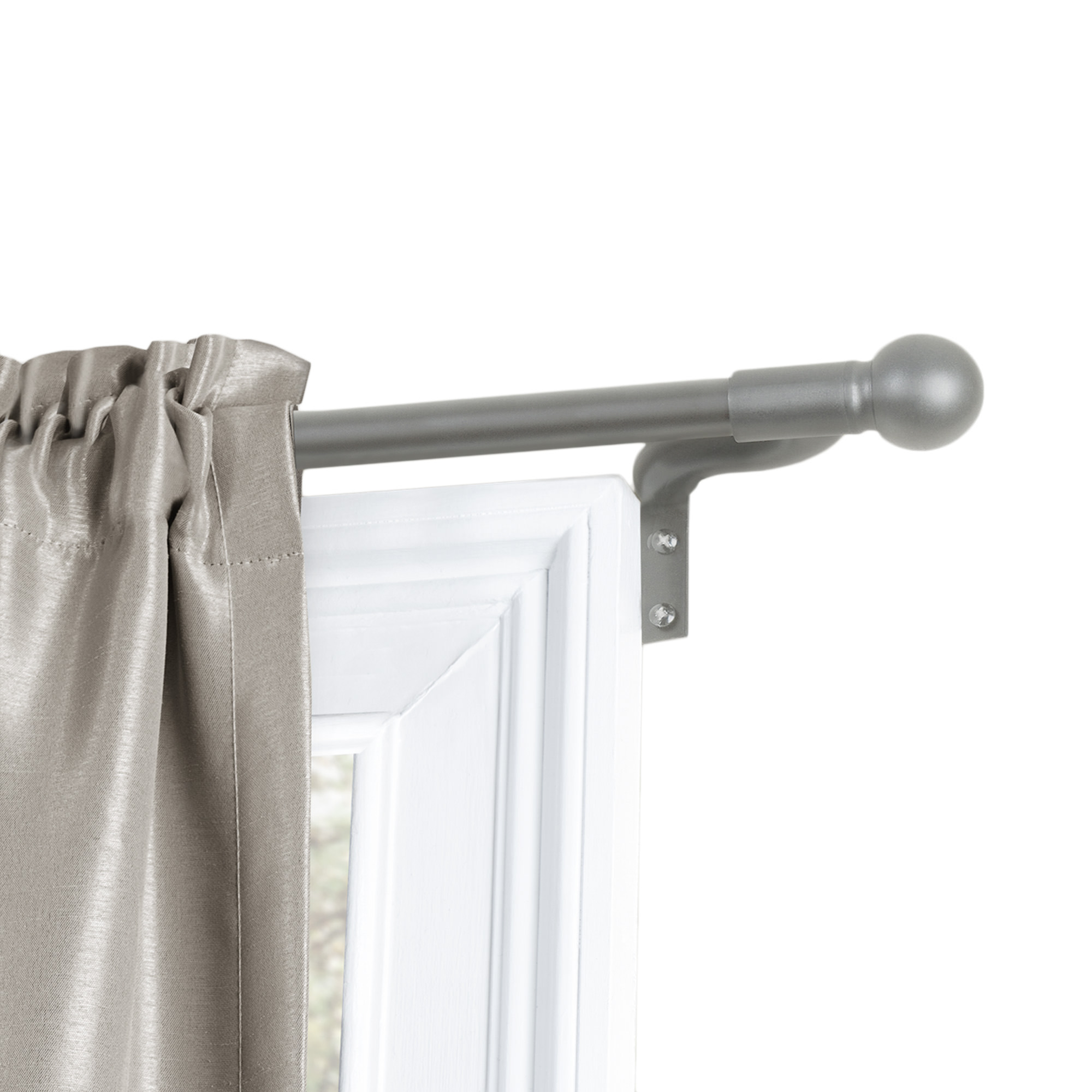 Better Homes And Gardens Easy Install Cafe Window Curtain Rod Ball Finial