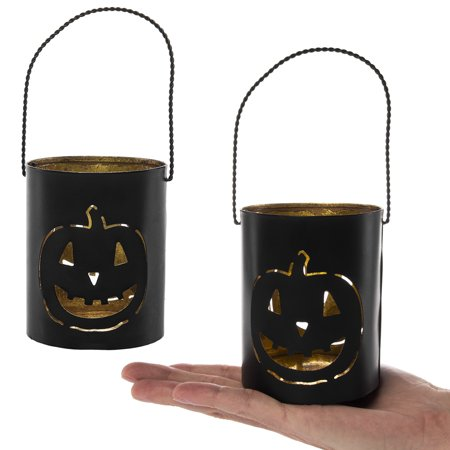 Tag (2 Pack) Halloween Pumpkin Tealight Candle Holders By Tag Votive Lanterns Decorations (Halloween Tags Pdf)