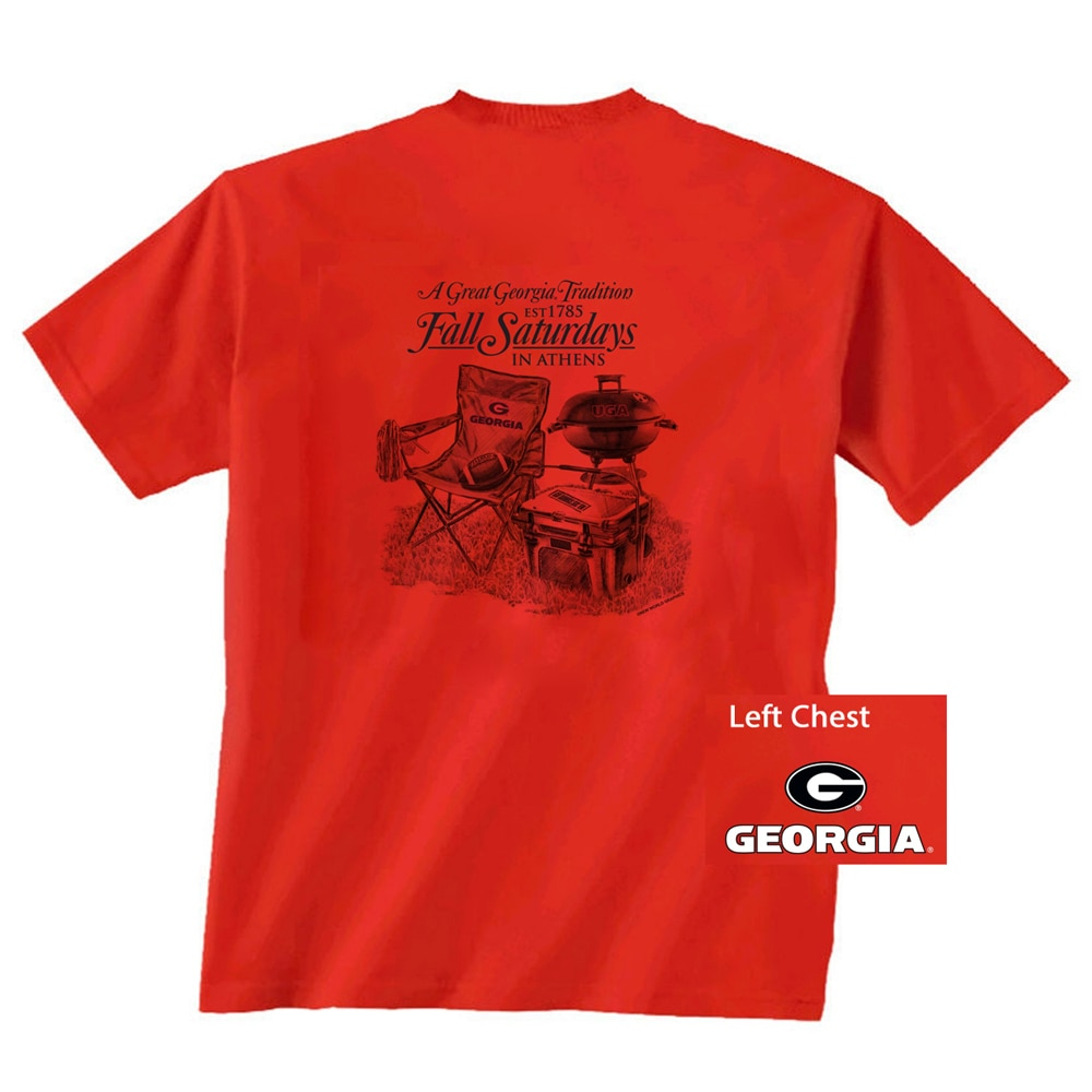 Georgia Bulldogs Saturday Traditions T-shirt - Red