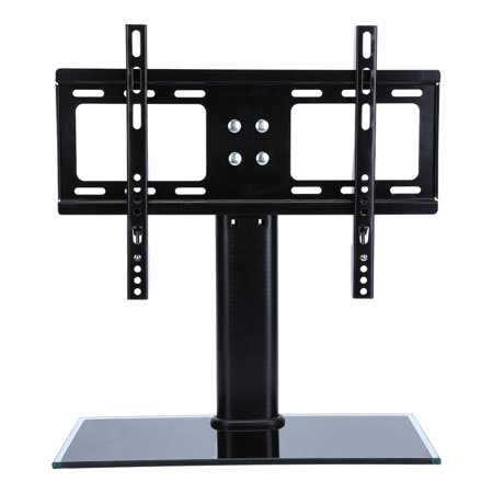 Yosoo Table Top TV Stand Base, Universal Replacement ta bletop Pedestal Base Stand with Wall Mount Bracket for TV LCD/LED, Plasma Screens 26 up to 32 (Officeworks Pedestal Table Base)