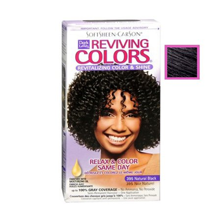 Dark And Lovely Relax And Color Same Day 395 Haircolor, Natural Black - 1