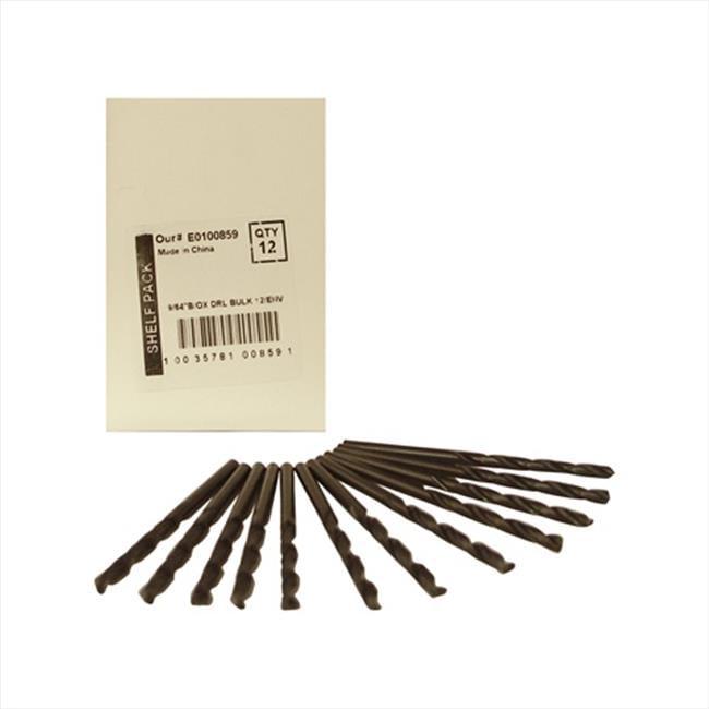 Disston E0100859 Blu-Mol 0.14 In. Diameter Black Oxide Jobber Length Drill Bit, 12 Pack