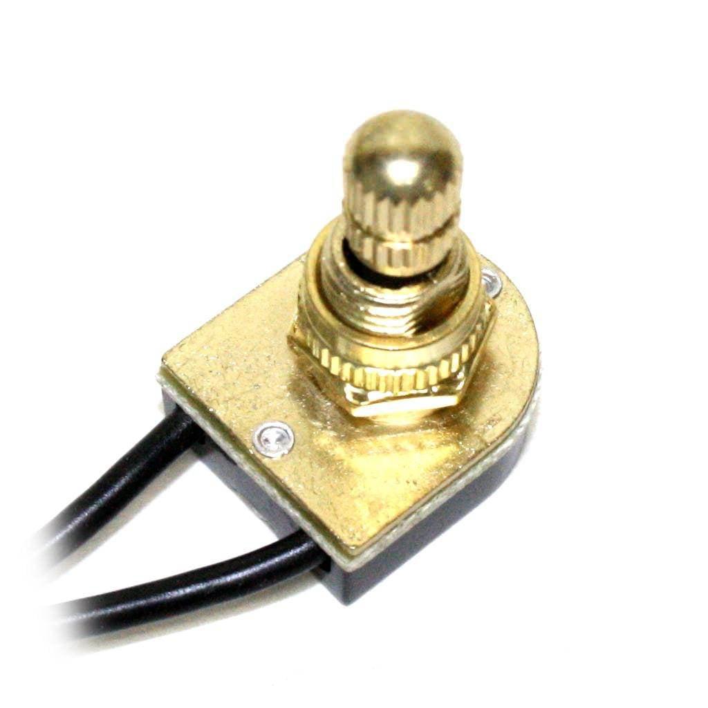 Satco 90501 - 90-501 Brass Rotary Switch