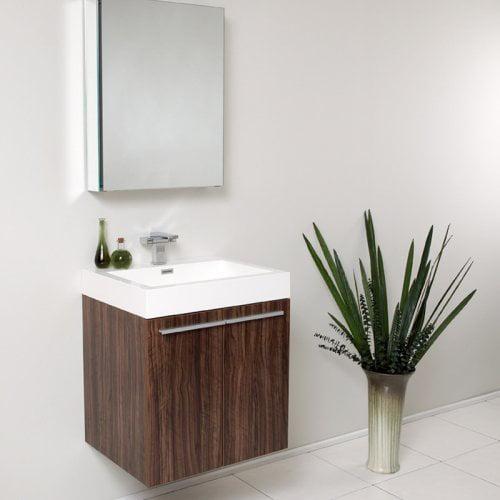 Fresca Alto 23-in. Modern Single Bathroom Vanity & Medicine Cabinet FVN8058BW