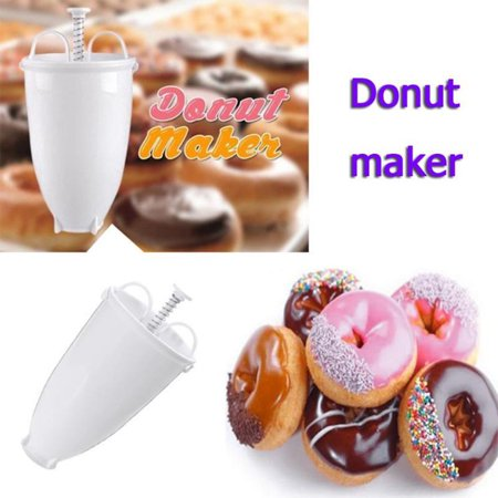 Jeobest Mini Donut Maker Dispenser - Pancake and Donut Batter Dispenser - Donut Batter Dispenser - Manual Doughnut Maker Doughnut Batter Dispenser Pancakes Waffles Biscuits  Maker (Mini Donut Maker Recipes With Pancake Mix)