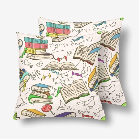 GCKG Comic Book Children's Scribbles Throw Pillow Covers 18x18 inches Set of 2 - image 3 of 3