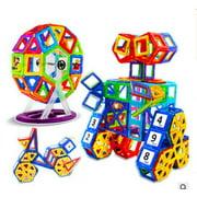 Magnetic Blocks,113 Pcs Set Kids Magnetic Tiles Educational Building Blocks Construction Stacking Toys for Boys and Girls