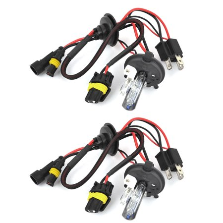 Car 8000K H4 Hi/Lo HID Xenon Swing Angle Light Headlamp Bulbs 2 -