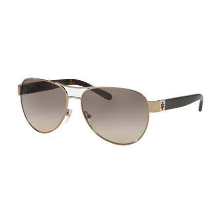 1f49bc51ca14 Tory Burch - TORY BURCH Sunglasses TY6051 319013 Lt Gold/Dark Tortoise 60MM  - Walmart.com