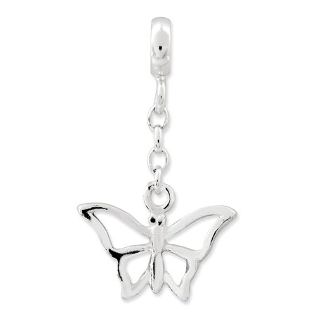 Sterling Silver Butterfly 1/2in Dangle Enhancer