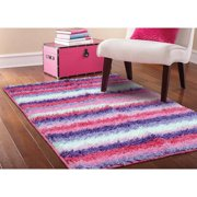 Your Zone Striped Rug Pink
