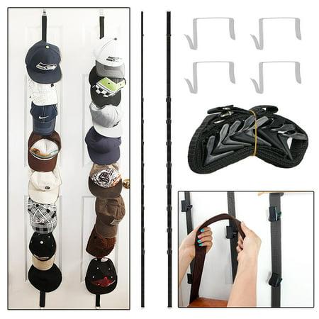 EEEKit 2-pack Over the Door Purse Clip Hanger Hat Rack Storage Organizer Holders Hook