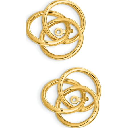 14k or jaune poli amour Vestes Knot (17x16mm) Boucles d'oreilles - image 1 de 3