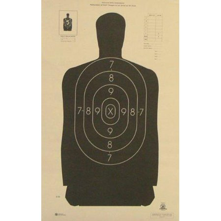 Nra Silhouette Targets - OFFICIAL NRA B-29 Shooting Target Police Silhouette